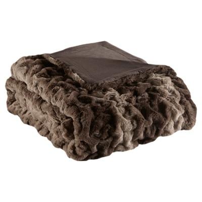 Chocolate Stripe Throw Blankets ( 50x60 )