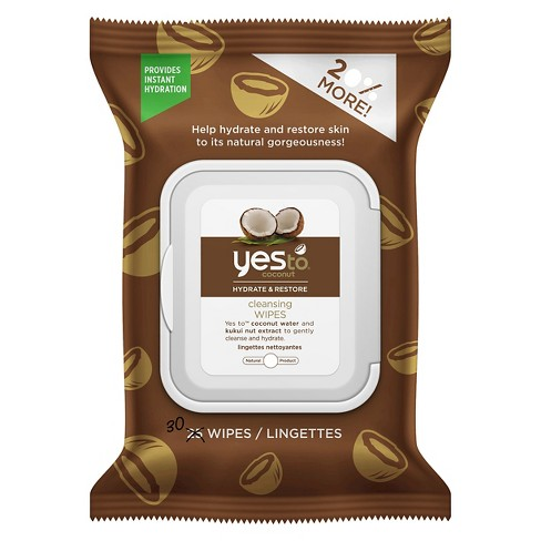 Yes to Coconut Face & Hand Cleansing Wipes - 30ct - image 1 of 4