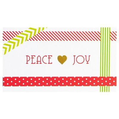 """Peace & Joy"" Gift Tag"