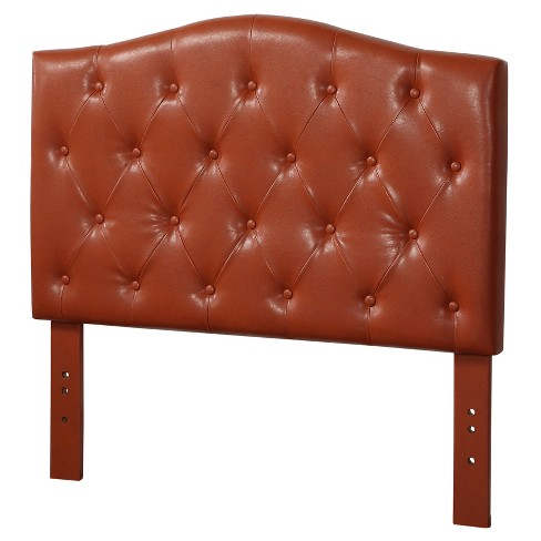 Viola Twin Headboard Red Faux Leather Acme
