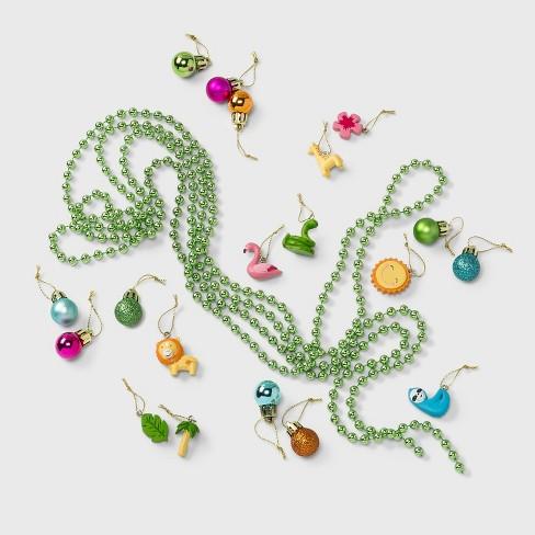 30pc Jungle Animals Resin Shatter-Resistant Christmas Ornament Set - Wondershop™ - image 1 of 2