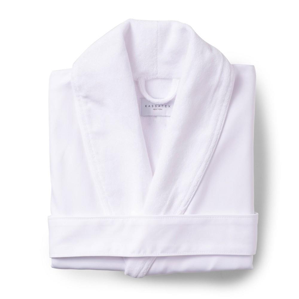 Platinum Bath Robe S M White Cassadecor