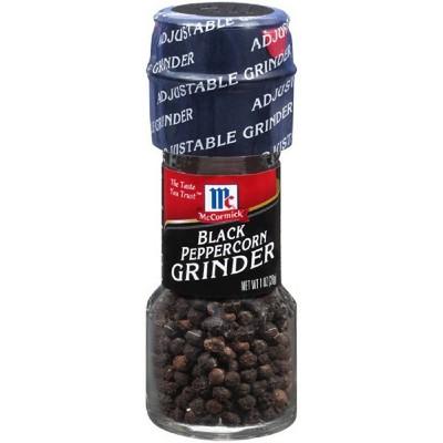 Pepper: McCormick Black Peppercorn Grinders