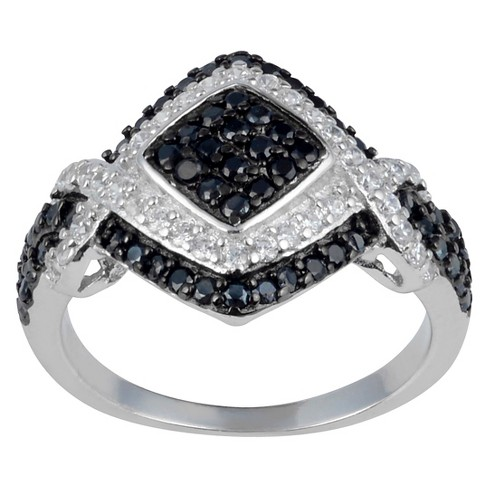 1/2 CT. T.W. Round-Cut CZ Pave Set Polished Ring in Sterling Silver - image 1 of 2