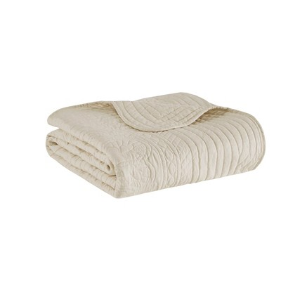 """60""""x72"""" Marino Quilted Throw Blanket With Scallop Edges : Target"""
