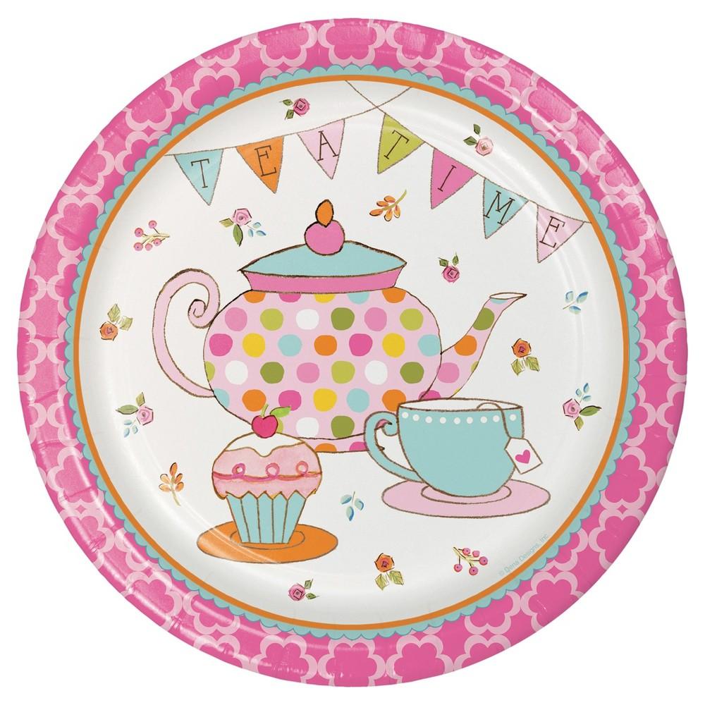Tea Time 9 Paper Plates - 8ct
