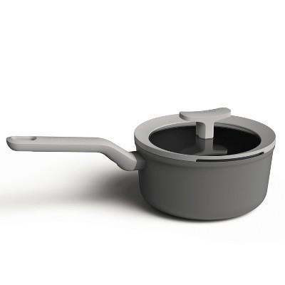 """BergHOFF Leo 7"""" Non-Stick Covered Saucepan, 2.1 Qt, Grey"""