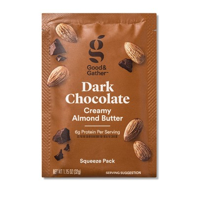 Dark Chocolate Almond Butter Squeeze Pack 1.15oz - Good & Gather™