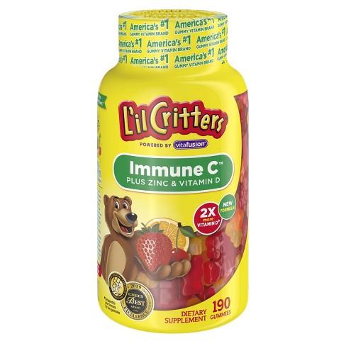 L'il Critters Immune C Dietary Supplement Gummies - Fruit - 190ct - image 1 of 4