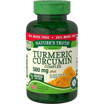 Nature's Truth Turmeric Curcumin Dietary Supplement Capsules - 120ct