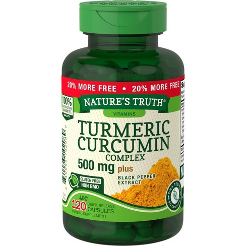 Nature's Truth Turmeric Curcumin Dietary Supplement Capsules - 120ct - image 1 of 3
