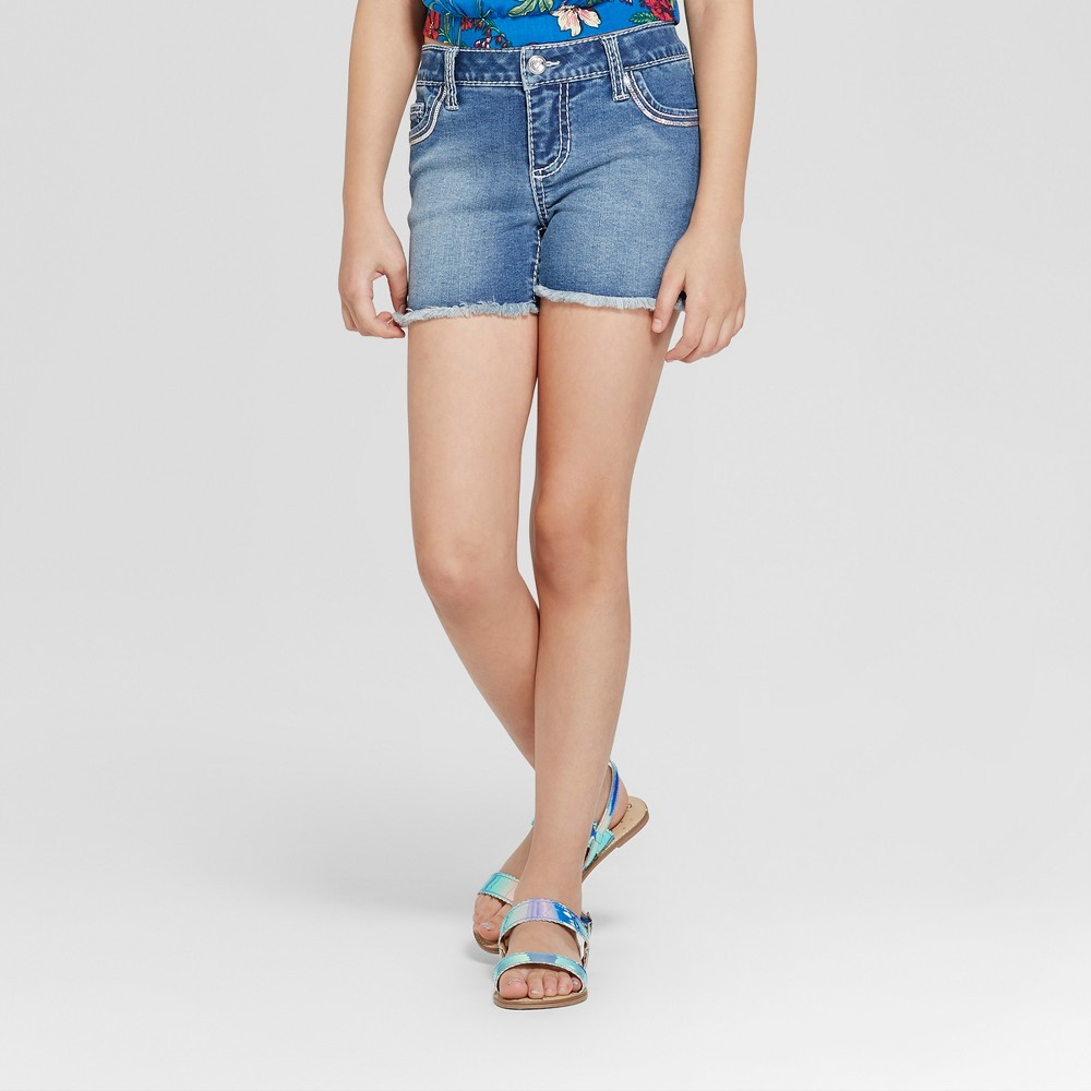 Image of Girls' First Casey Bling Jean Shorts - Blue XS, Girl's