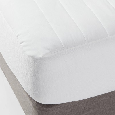 Queen Machine Washable Comfort Mattress Pad White - Made By Design™