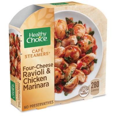 Healthy Choice Café Steamers Frozen Four Cheese Ravioli & Chicken Marinara - 10oz
