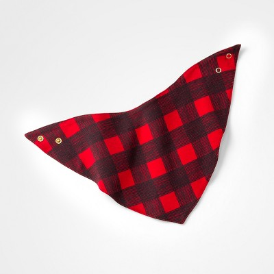 Baby Girls' Checkered Bib - Cloud Island™ Red