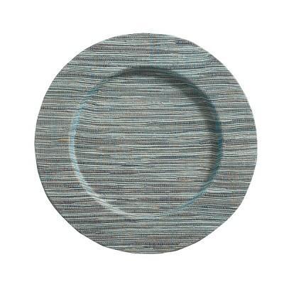Split P Hyacinth Round Charger Plate Set - Aqua