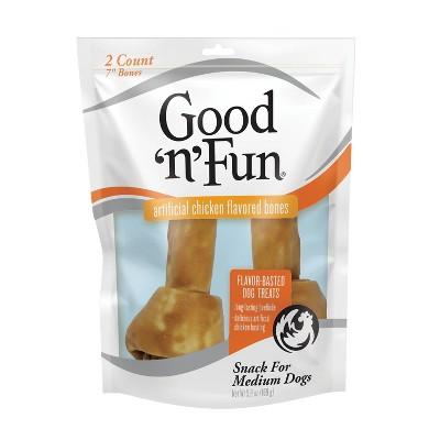 Good 'n' Fun Chicken Bones Rawhide Dog Treats - 2ct