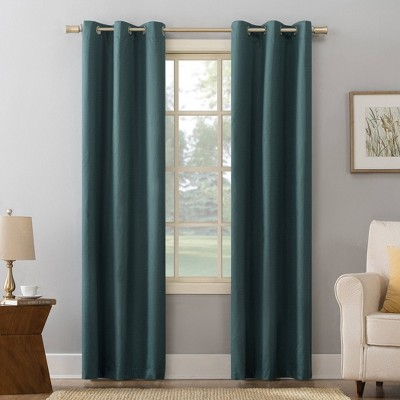 Cooper Textured Thermal Insulated Grommet Top Room Darkening Curtain Panels - Sun Zero