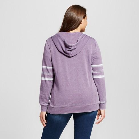 903264d28a6 Women s Plus Size Star Zip Graphic Hoodie - Grayson Threads (Juniors )  Violet 1X   Target