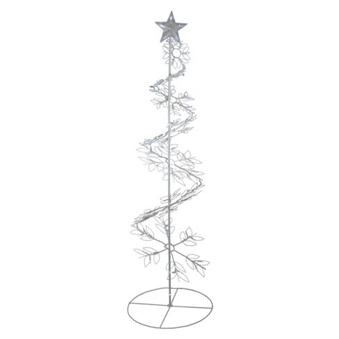 Northlight 6' Prelit Artificial Christmas Tree Meteor Effect Snowflake Hoop - Cool White Lights - image 1 of 2