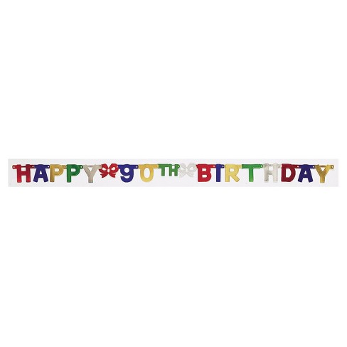 90th Birthday Party Banner Target