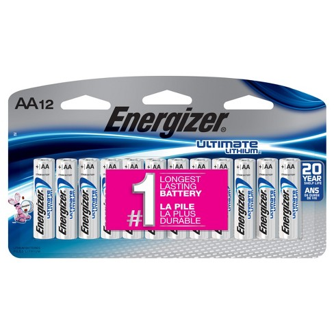 Energizer L91SBP-12 Ultimate Lithium AA Universal Battery - 12pk - image 1 of 1