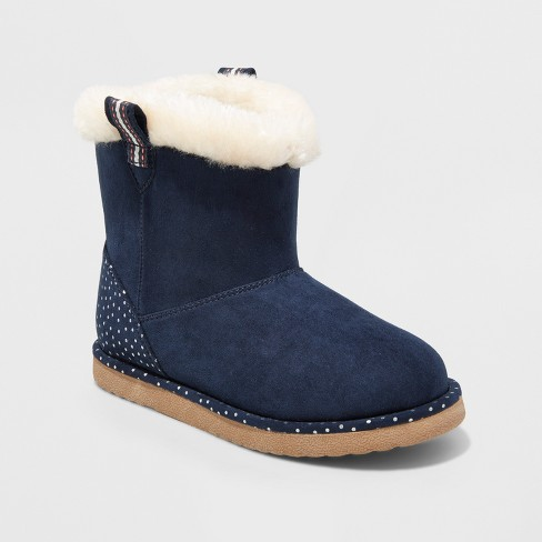 Girls' Hollie Fashion boots - Cat & Jack™ Navy - image 1 of 3