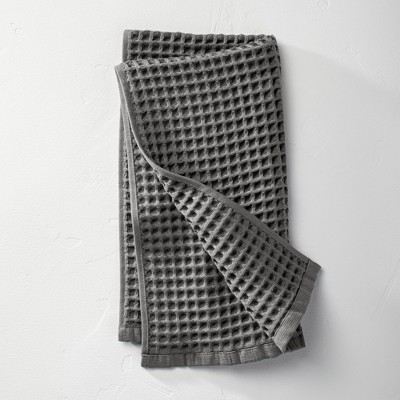 Waffle Hand Towel Dark Gray - Casaluna™