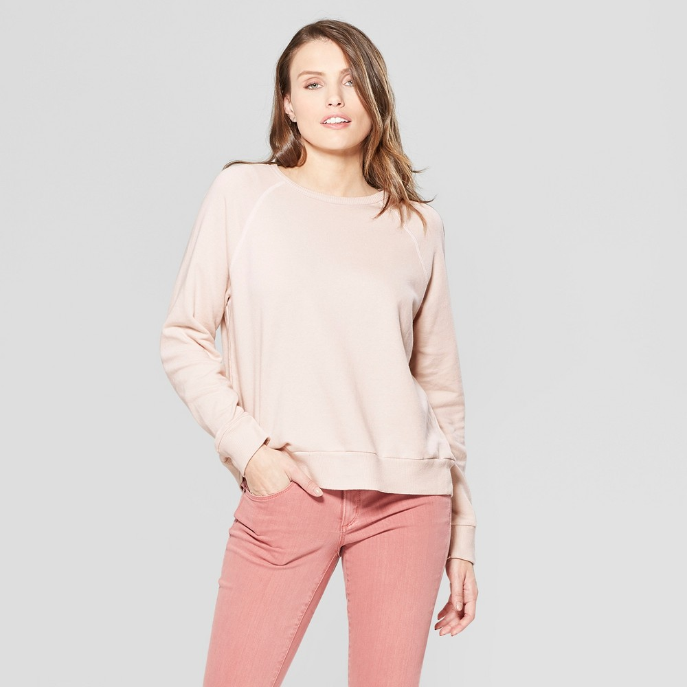 Women's Crew Neck Sweatshirt - Universal Thread Pink XL