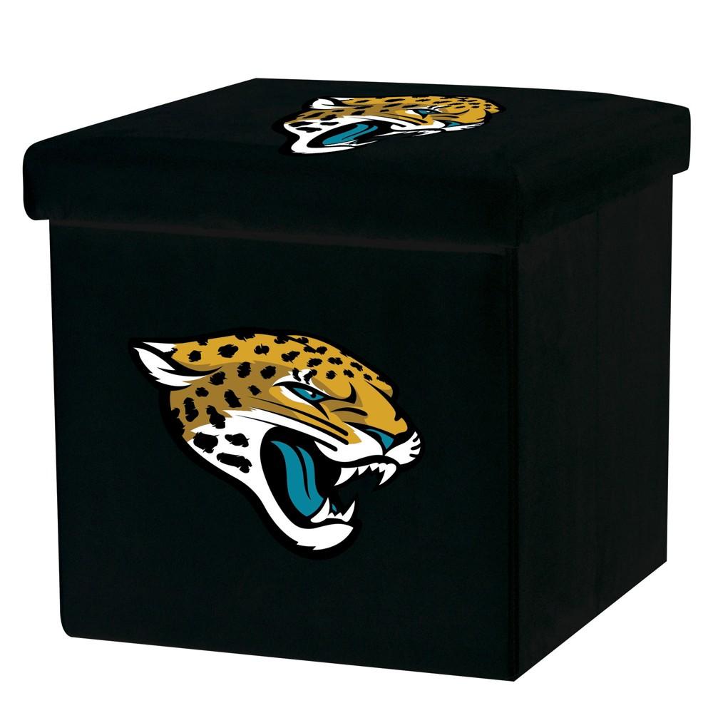 NFL Franklin Sports Jacksonville Jaguars Storage Ottoman with Detachable Lid
