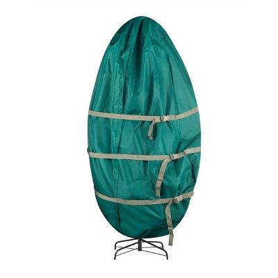 """Hastings Home Christmas Tree Storage Cover - 30"""" x 60"""", Green and Gold"""