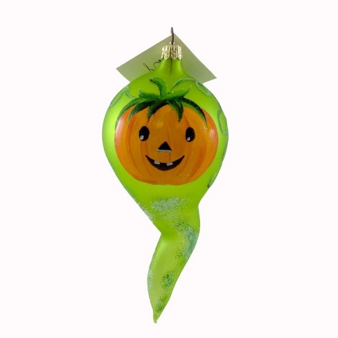 Laved Italian Ornaments Pumpkin Faced Ghost Halloween Carved - image 1 of 2