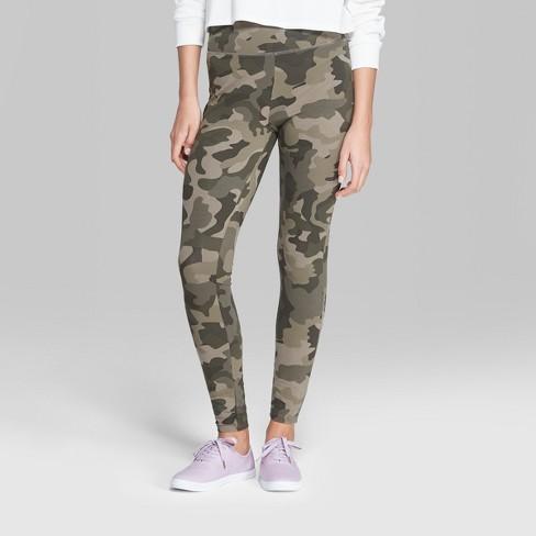 women s camo print high rise leggings wild fable green target