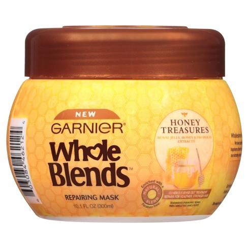 Garnier Whole Blends Honey Treasures Repairing Mask - 10.1 fl oz - image 1 of 9
