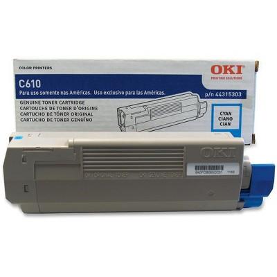 Oki Original Toner Cartridge - LED - 6000 Pages - Cyan - 1 Each