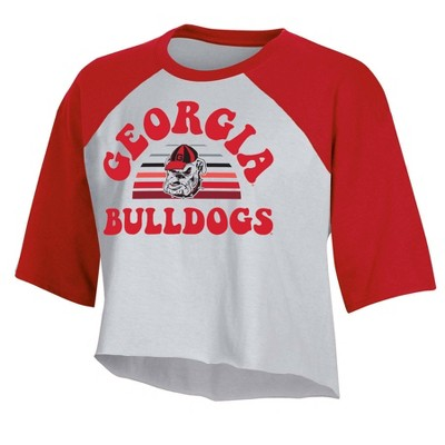 NCAA Georgia Bulldogs Women's Short Sleeve Cropped T-Shirt