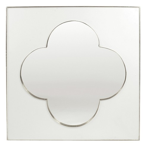 Square Clover Decorative Wall Mirror White - Go Home - image 1 of 1