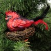 """Holiday Ornament 4.0"""" Red Bird With Twig Nest Clip On Cardinal  -  Tree Ornaments - image 3 of 3"""