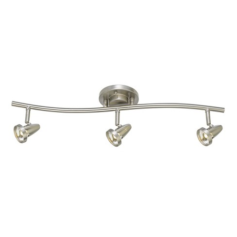 "Integrated LED Serpentine Rail Fixture Comes with A Pair Of Extension poles Steel 10.5""x7"" Ceiling lights - Cal Lighting - image 1 of 1"
