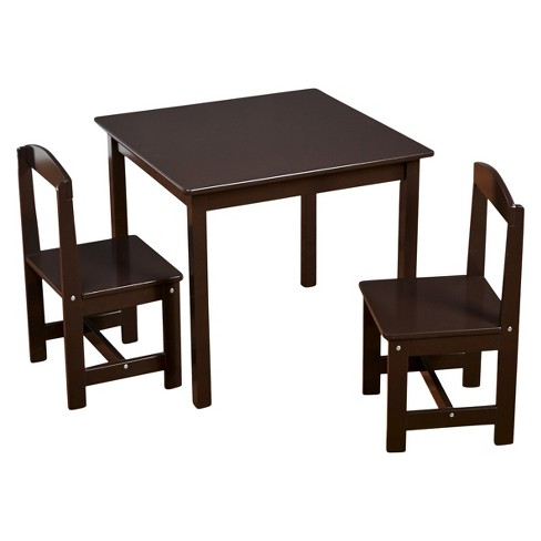 Pleasant Madeline Kids Table And Chairs Set Espresso Set Of 3 Tms Dailytribune Chair Design For Home Dailytribuneorg