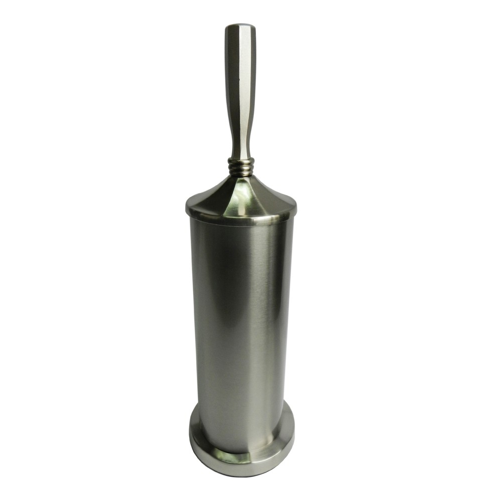 Toilet Brush and Holder Steel (Silver) - Elegant Home Fashions