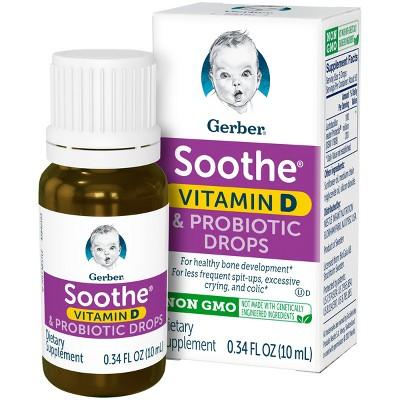 Gerber Soothe Vitamin D & Probiotic Drops - .34 fl oz