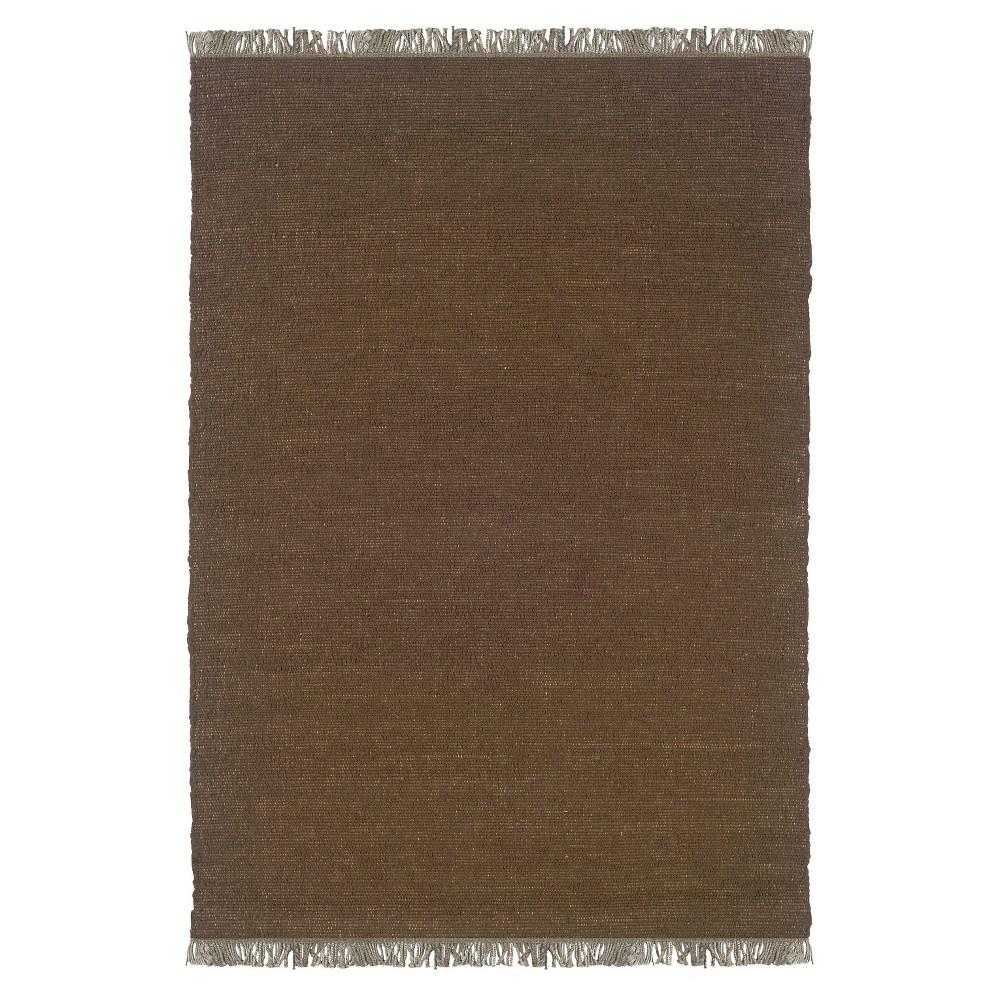 Verginia Berber Reversible Flatweave Area Rug - Brown (7'10