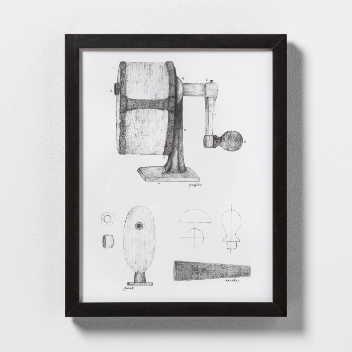 Pencil Sharpener Wall Art with Frame - Hearth & Hand™ with Magnolia - image 1 of 1