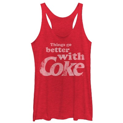 Women's Coca Cola Things Go Better With Coke Racerback Tank Top