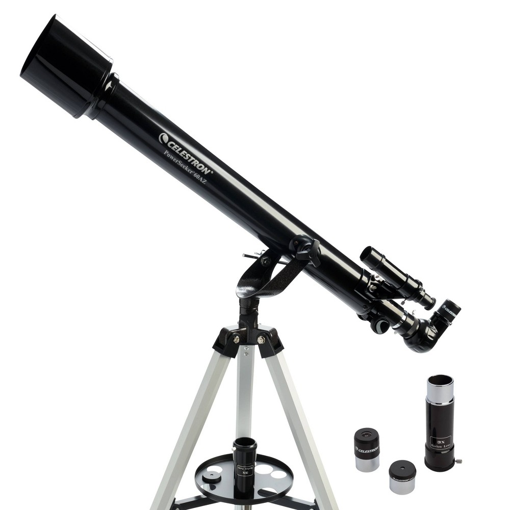 Image of Celestron PowerSeeker 60AZ Telescope - Black