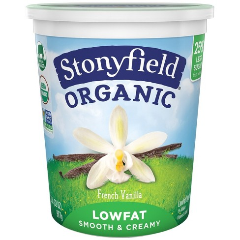 Stonyfield French Vanilla Organic Low Fat Yogurt - 32oz - image 1 of 1