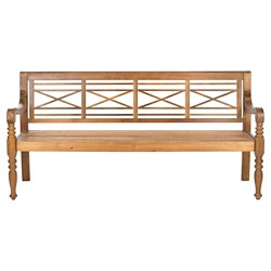 Catalonia Wood 4-Seater Patio Bench - Safavieh®