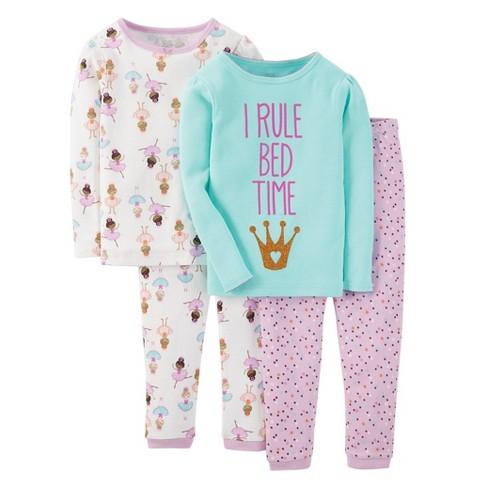 Just One You™ Made by Carter's® Toddler Girls' 4pc Mix & Match Princess Pajama Set - Pink 5 - image 1 of 1