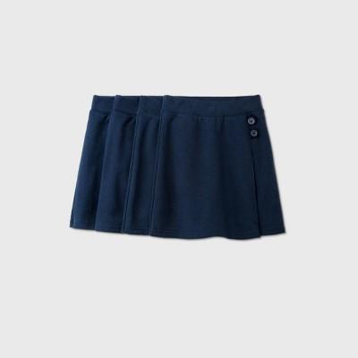 Girls' 4pk Stretch Uniform Knit Skorts - Cat & Jack™ Navy